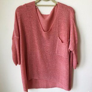 🌻 SHEIN Coral Knit Lightweight Sweater Size Small